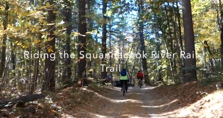 Video of riding the rail trail