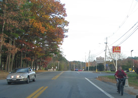 Biking on Rt 119