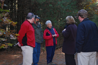 Trail walk with Congresswoman Tsongas